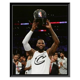 NBA LeBron James With The MVP Trophy 2018 NBA All Star Game Framed Photo Officially Licensed