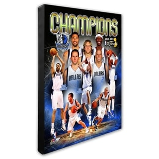 NBA Dallas Mavericks 2011 NBA Finals Championship Composite Stretched Canvas Officially Licensed