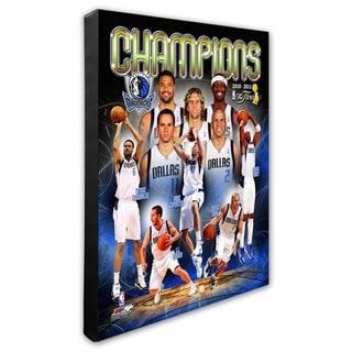 NBA Dallas Mavericks 2011 NBA Finals Championship Composite Stretched Canvas Officially Licensed
