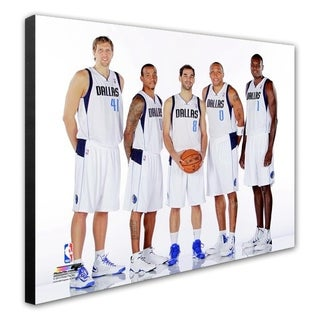 NBA Dallas Mavericks 2013 Starting Five Posed Stretched Canvas Officially Licensed