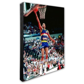NBA Fat Lever 1986 Action Stretched Canvas Officially Licensed