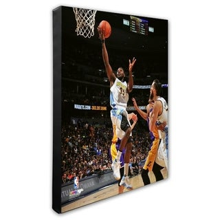 NBA Kenneth Faried 2015 16 Action Stretched Canvas Officially Licensed
