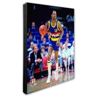 NBA Fat Lever 1987 Action Stretched Canvas Officially Licensed