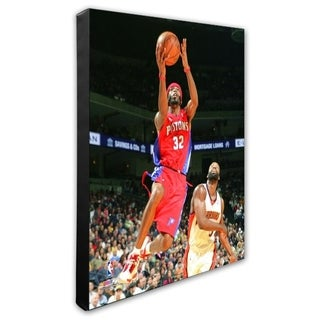 NBA Richard Hamilton 2007 08 Action Stretched Canvas Officially Licensed