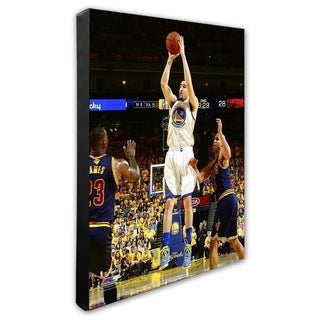 NBA Klay Thompson Game 2 Of The 2016 NBA Finals Stretched Canvas Officially Licensed