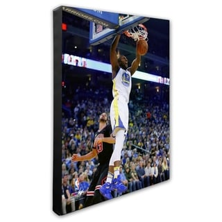 NBA Festus Ezeli 2015 16 Action Stretched Canvas Officially Licensed