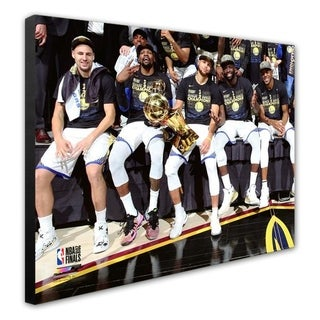 NBA The Golden State Warriors Celebrate Winning Game 4 Of The 2018 NBA Finals Stretched Canvas Officially Licensed