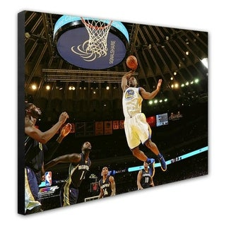 Harrison Barnes During The Golden State Warriors NBA Record 73rd Win Of The Season April 13 2016 Stretched Canvas Officially