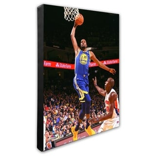 NBA Kevin Durant 2017 18 Action Stretched Canvas Officially Licensed