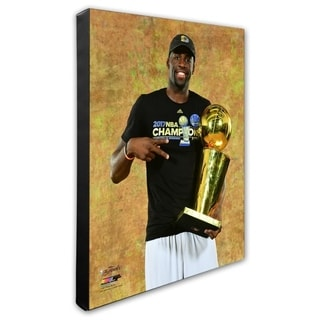 NBA Draymond Green With The 2017 NBA Championship Trophy Game 5 Of The 2017 NBA Finals Stretched Canvas Officially Licensed