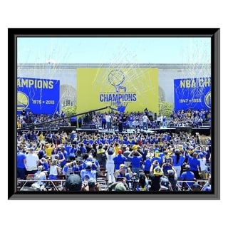 NBA Golden State Warriors 2017 NBA Champions Victory Parade Framed Photo Officially Licensed