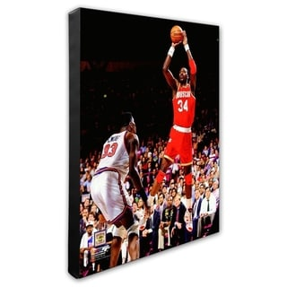 NBA Hakeem Olajuwon Game 4 Of The 1994 NBA Finals Action Stretched Canvas Officially Licensed