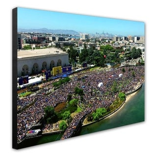 NBA Golden State Warriors 2017 NBA Champions Victory Parade Stretched Canvas Officially Licensed