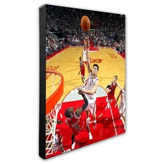NBA Yao Ming 06 07 Action Stretched Canvas Officially Licensed