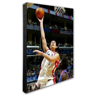 NBA Yao Ming 04 All Star Game Action Stretched Canvas Officially Licensed