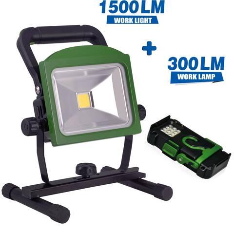 BONASHI LED Rechargeable Work Light with Detachable Flashlight