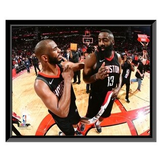 NBA Chris Paul James Harden 2017 18 Playoff Action Framed Photo Officially Licensed