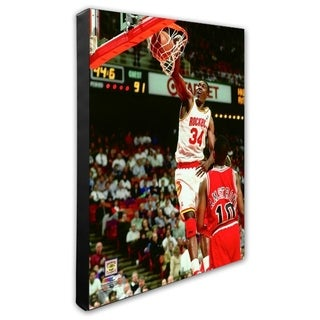NBA Hakeem Olajuwon 1994 Action Stretched Canvas Officially Licensed