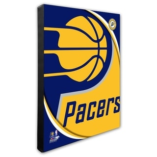 NBA Indiana Pacers Team Logo Stretched Canvas - Officially Licensed