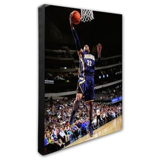 NBA C J Watson 2013 14 Action Stretched Canvas Officially Licensed