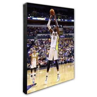 NBA Roy Hibbert 2013 14 Action Stretched Canvas Officially Licensed