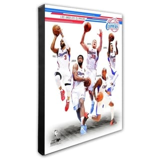 NBA Los Angeles Clippers 2014 15 Team Composite Stretched Canvas Officially Licensed