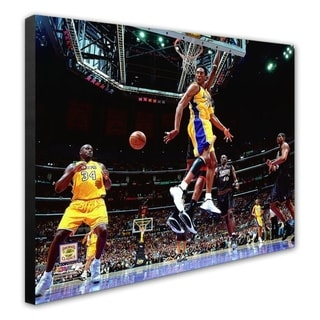NBA Kobe Bryant Shaquille O Neal 2001 NBA Finals Action Stretched Canvas Officially Licensed