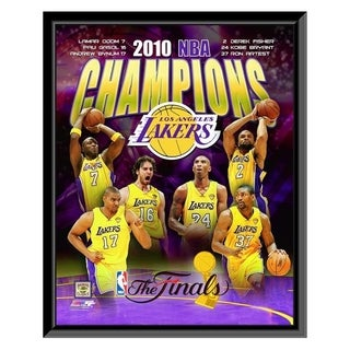 NBA Los Angeles Lakers 2009 10 NBA Champions Composite Framed Photo Officially Licensed