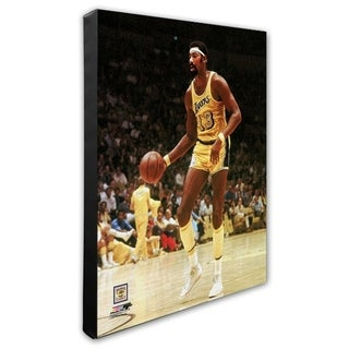 NBA Wilt Chamberlain Action Stretched Canvas Officially Licensed