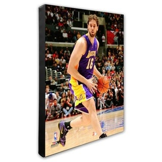 NBA Pau Gasol 2011 12 Action Stretched Canvas Officially Licensed