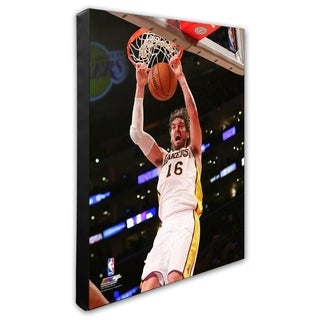 NBA Pau Gasol 2013 14 Action Stretched Canvas Officially Licensed