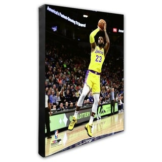 NBA LeBron James 2018 19 Action Stretched Canvas Officially Licensed