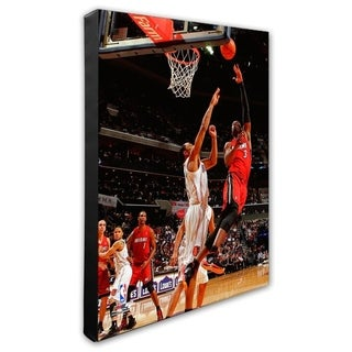 NBA Dwayne Wade 2010 11 Action Stretched Canvas Officially Licensed