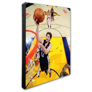 NBA Pau Gasol 2007 08 Action Stretched Canvas Officially Licensed