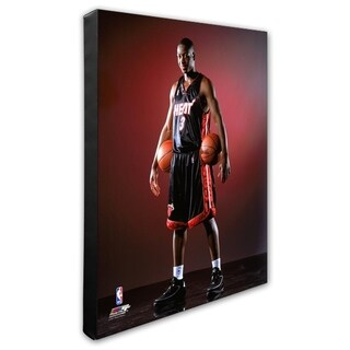 NBA Dwyane Wade 2003 NBA Draft Day Stretched Canvas Officially Licensed