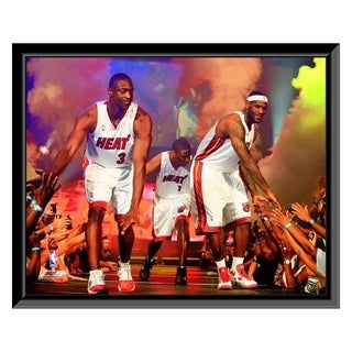 NBA Dwyane Wade LeBron James Chris Bosh 2010 Welcome Party Framed Photo Officially Licensed