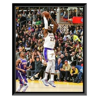 NBA LeBron James 2018 19 Action Framed Photo Officially Licensed