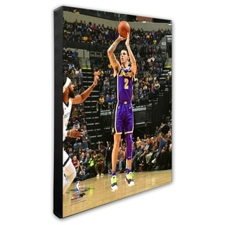 NBA Lonzo Ball 2018 19 Action Stretched Canvas Officially Licensed