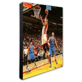 NBA Hassan Whiteside 2015 16 Action Stretched Canvas Officially Licensed