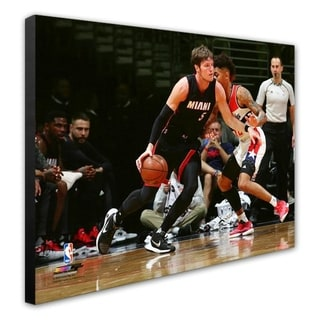 NBA Luke Babbitt 2016 17 Action Stretched Canvas Officially Licensed