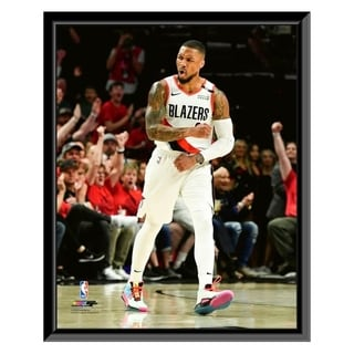 NBA Damian Lillard 2018 19 Playoff Action Framed Photo Officially Licensed