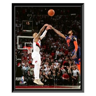 NBA Damian Lillard Game Winning 3 Point Shot 2018 19 Playoffs Framed Photo Officially Licensed