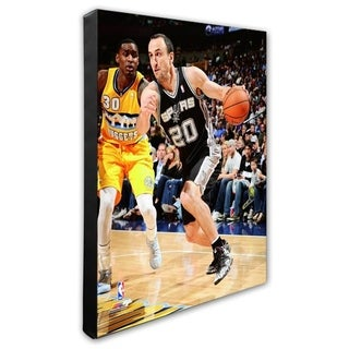 NBA Manu Ginobili 2013 14 Action Stretched Canvas Officially Licensed