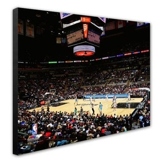 NBA AT T Center 2012 Stretched Canvas Officially Licensed