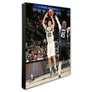 NBA Manu Ginobili 2015 16 Action Stretched Canvas Officially Licensed