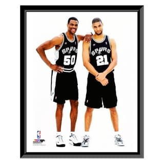 NBA David Robinson Tim Duncan 2001 Posed Framed Photo Officially Licensed