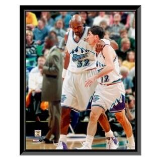 NBA Karl Malone John Stockton Framed Photo Officially Licensed