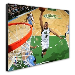 NBA Jabari Parker 2015 16 Action Stretched Canvas Officially Licensed