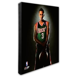 NBA Brandon Jennings 2009 Posed Stretched Canvas Officially Licensed