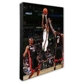 NBA Brandon Jennings 2012 13 Action Stretched Canvas Officially Licensed